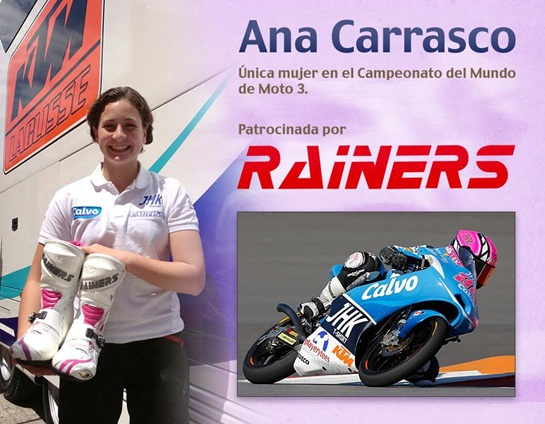 ANA CARRASCO con rainers
