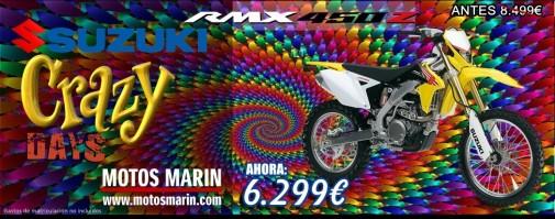 SUZUKI ENDURO CAMPO RMX450 MEJOR PRECIO MOTOS MARIN ELCHE ALICANTE MURCIA